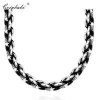 Geometrische Ketten Halskette, Punk Titan Für Männer, Außenhandel Beliebte Retro 316 Rolo Halskette