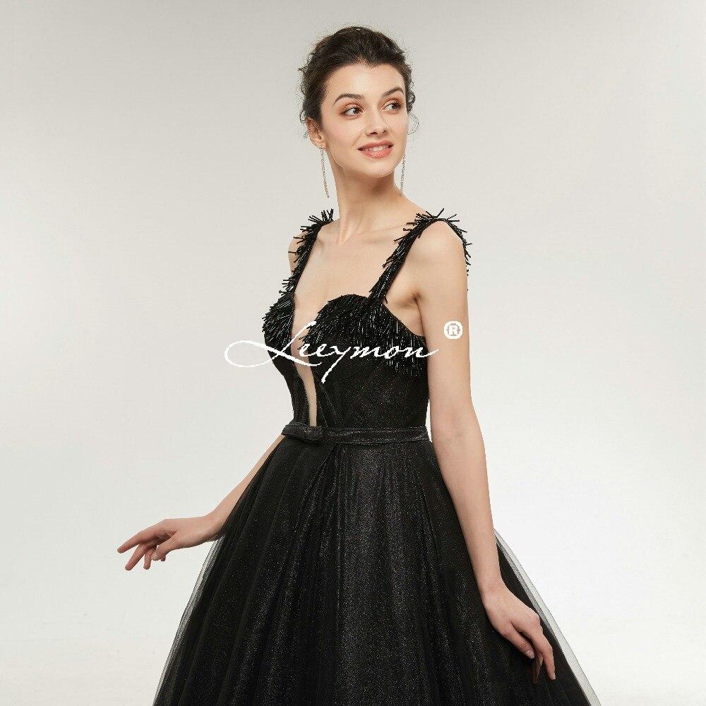 Robe De Soiree Black Shiny Sequin երեկոյան զգեստ - Հատուկ առիթի զգեստներ - Լուսանկար 2