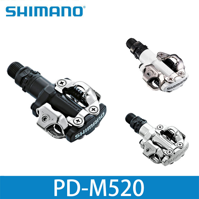 Shimano Pd M520 Clipless Spd Pedals Mtb Bicycle Racing Mountain Bike