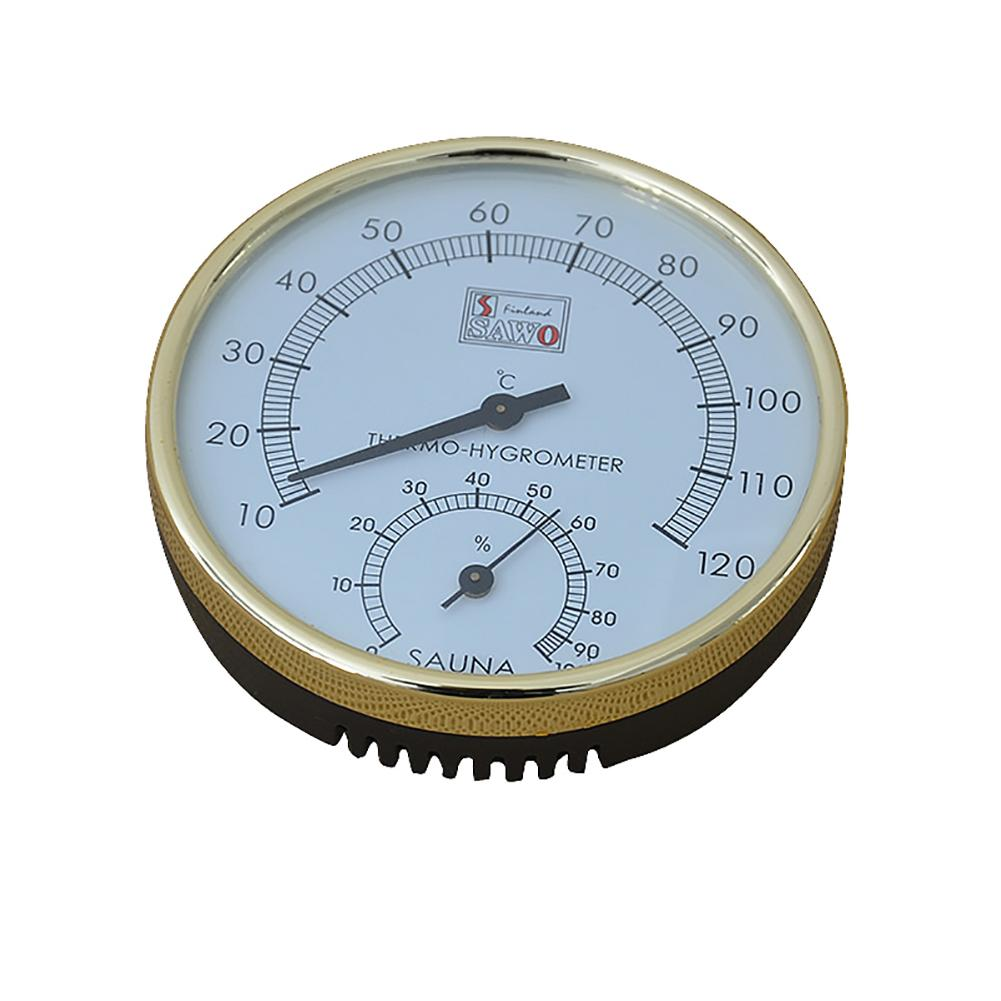 Termómetro de Sauna higrómetro de Dial metálico medidor de medición de temperatura de humedad accesorio de sala interior