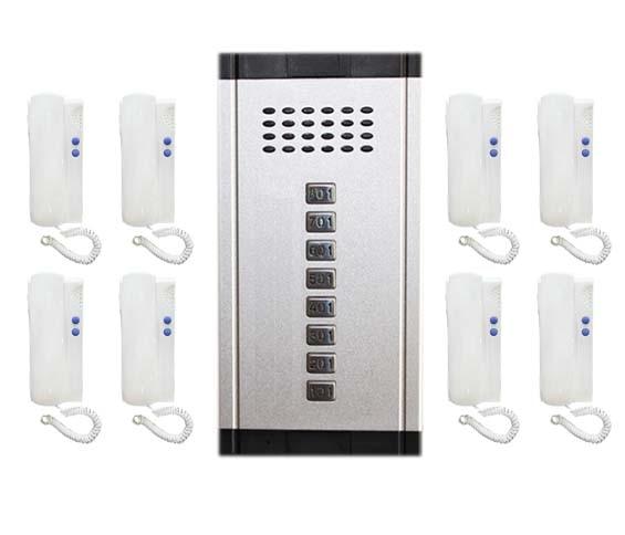 2-wired Audio Intercom System Aromatischer Geschmack Sicherheit & Schutz Aggressiv Xinsilu Home Security Direkt Drücken Sie Die Taste Audio Tür Telefon Für 8 Wohnungen Audio Intercom