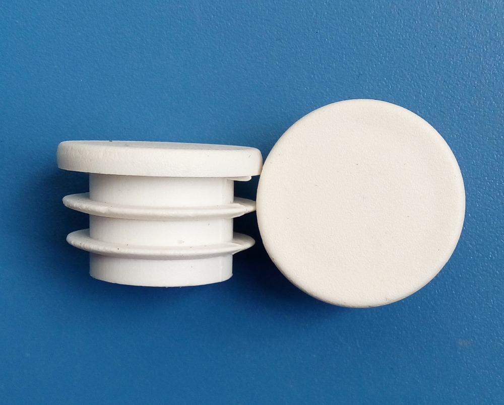 38mm Round Blanking Tube Inserts End Cap 1 1 2inch White