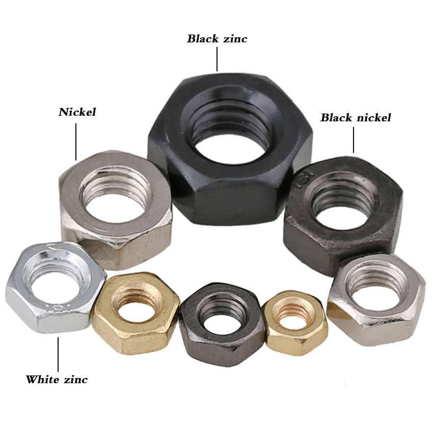 Size : M16 5PCS CHENHAN Hex Nut 100pcs M2 M2.5 M3 M4 M5 M6 M8 M10 M12 M14 M16 Black Carbon Steel Hex Nut Hexagon Nuts Stainless