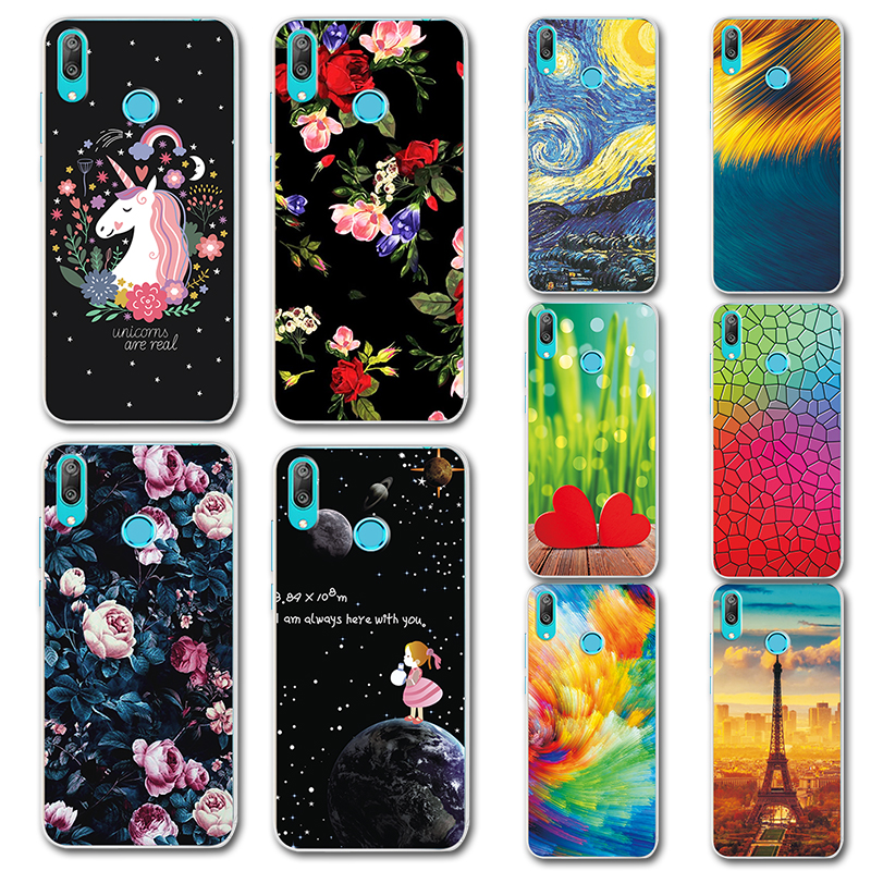 Phone Bags & Cases Apprehensive For Huawei Y7 Prime 2019 Phone Case For Huawei Y7 2019 Silicone Case Fundas Novelty Cute Painted Cover For Huawei Y7 2019 6.26