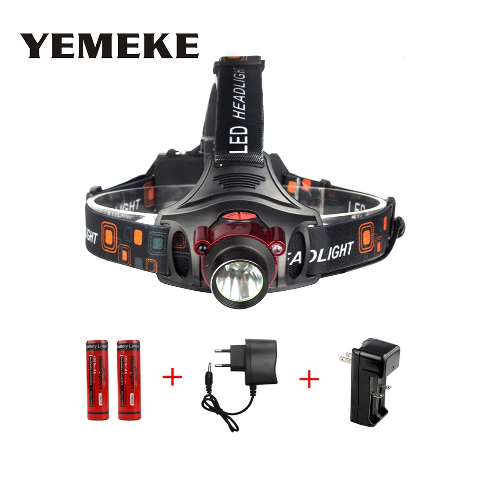 Super Bright Cree XM-l T6 900LM Infrared Sense LED Headlamp rechargeable flashlight head torch LED Headlight For Hunting Fishing