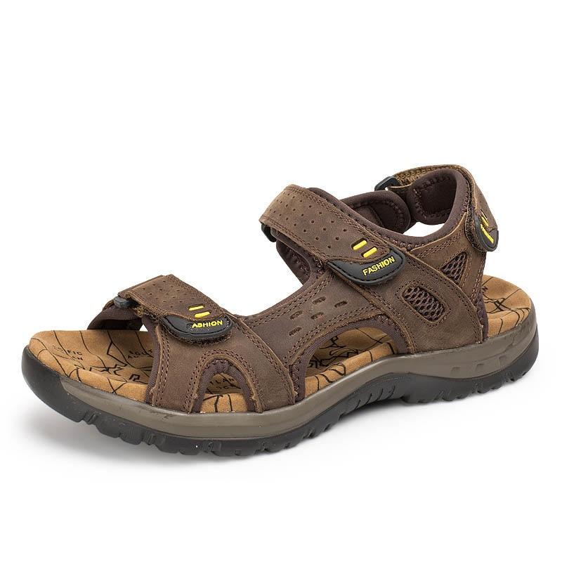 De Senderismo Sandalias Montaña Verano Cuero Hombre Al Zapatos Libre Escalada Para Aire k8On0wP