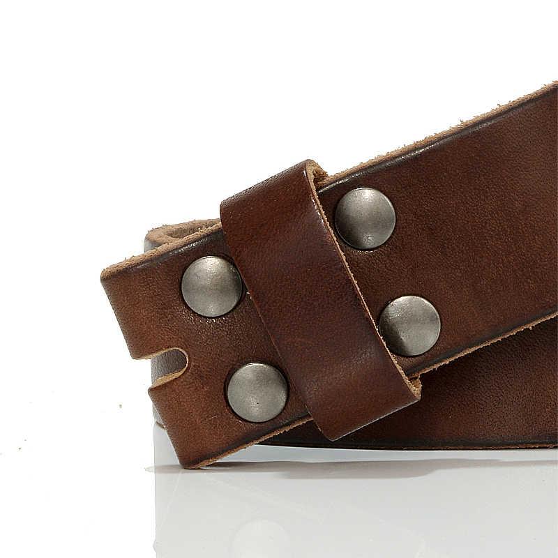 Gfohuo 3.8cm largura designers cintos de marca de luxo para homens alta qualidade pino fivela cinta masculina couro genuíno cós, sem fivela
