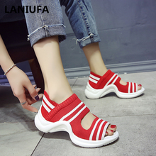 2019 Summer Women Sandals Casual Wedges Comfortable Mesh Breathable Sho