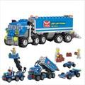 163 unids KAZI embroma el regalo navidad aclare los juguetes educativos juguetes camión de bricolaje bloques de construcción de juguetes, juguetes de los niños playmobile