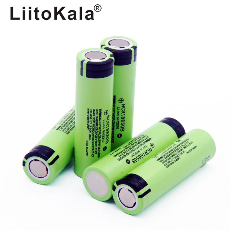 Hot LiitoKala New Original NCR18650B 34B 3.7V 18650 3400mAh Rechargeable Lithium Battery For  Flashlight Battery