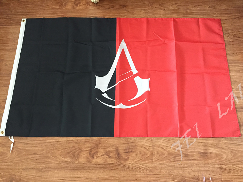 The new Assassin's Creed game around 5 Revolution flag banner Assassin'sCreed cosplay props flag