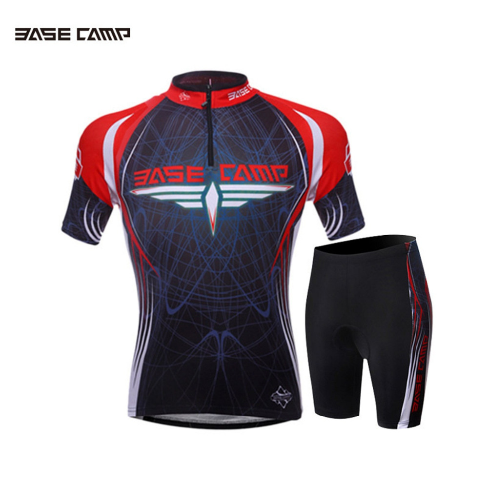 Cycling Sets Mens Sportswear Short Gel Pad Sport Wear Sleeve Breathable Summer MTB Bike jersey Cycling Clothing sports suits