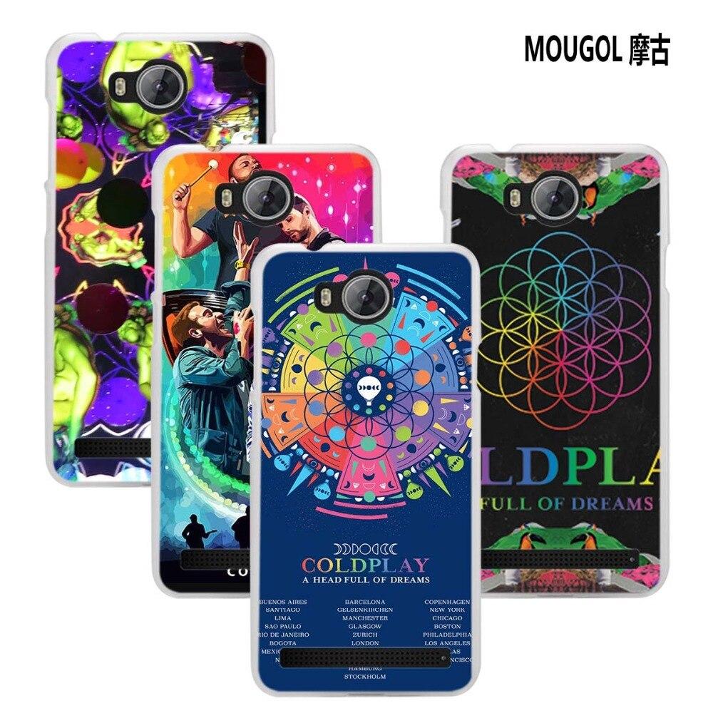 MOUGOL Coldplay A Head Full of Dreams design transparent hard Phone case cover for Huawei Y3II Y5II Y6 II 2017 Y6Pro