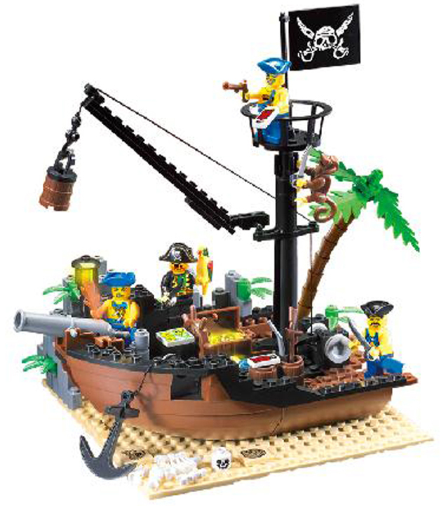 Pirate Ship Building Blocks Sets Pirate Series Scrap Dock Model 3D Blocks Construction Brick Educational Hobbies Toys for Kids enlighten 306 pirate ship scrap dock building blocks model toys compatible with lepin educational gift for children