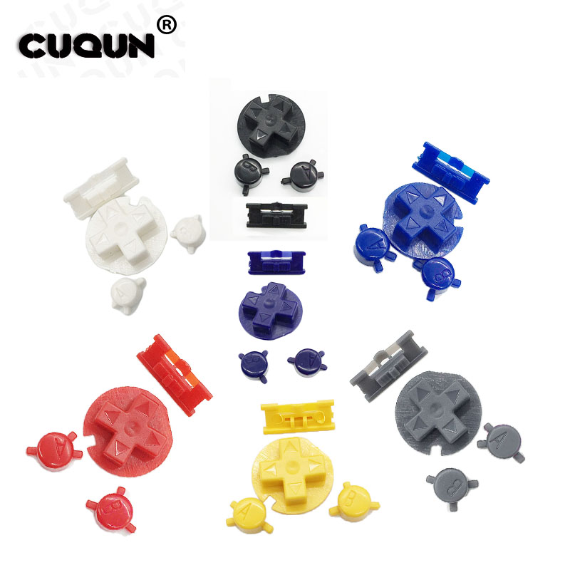 7 Color AB Buttons Keypads For Gameboy Color GBC Colorful Buttons For GBC D Pads Power Buttons Plastic