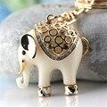 YS141 novo Presente Encantador Golden Elephant Keychain Keyring do Anel Chave Fob Grátis