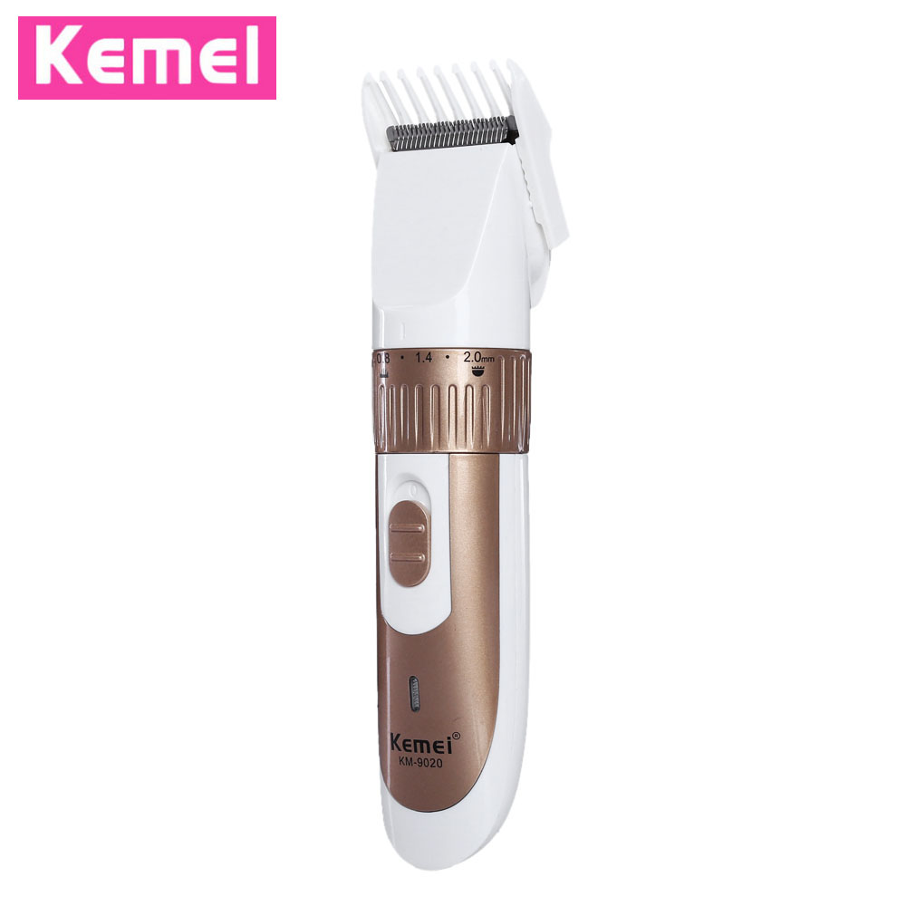 KEMEI-9020 Electric Hair Clipper Trimmer Rechargeable Cutter With Comb Adjustable 5 Range Rotation Cutting Machine Shaver EU rechargeable hair trimmer with accessories set silver 220v ac