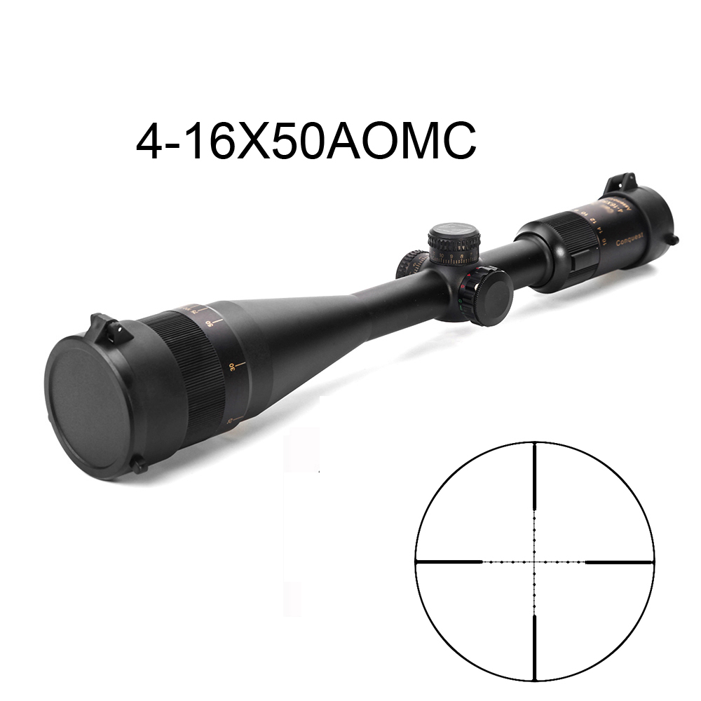 4 16X50AOMC Tratical Hunting Scopes Red Green Mil Dot Scope Long Range Hunting Scopes For Air Gun Airsoft Hunting