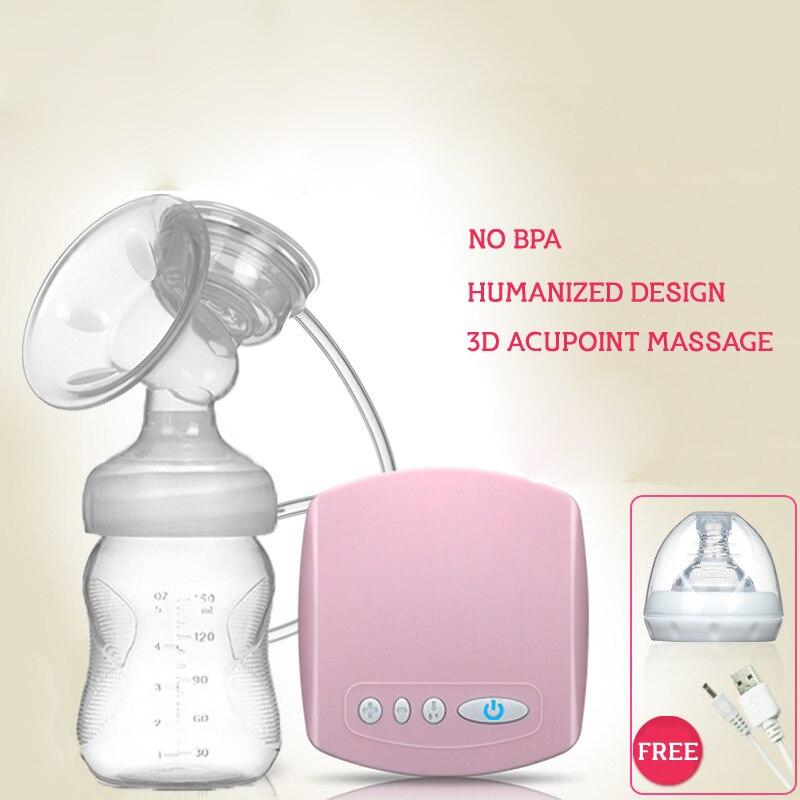 Brand Electric Breast Pump With Milk Bottle Natural Suction Enlarger Kit Feeding Bottle BPA free Breast Pump Milksucker