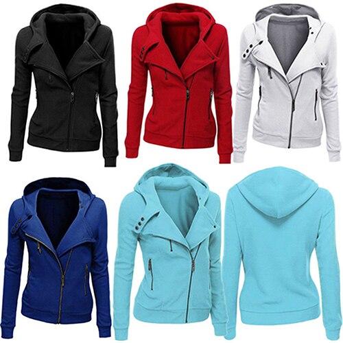 font b Women s b font Thick Hooded font b Jacket b font Long Sleeve