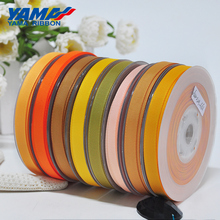 YAMA 1/8 inch 3mm 350yards/lot Yellow Gold Series Wholesale Grosgrain Ribbon for Diy Dress Accessory House Wedding Decoration