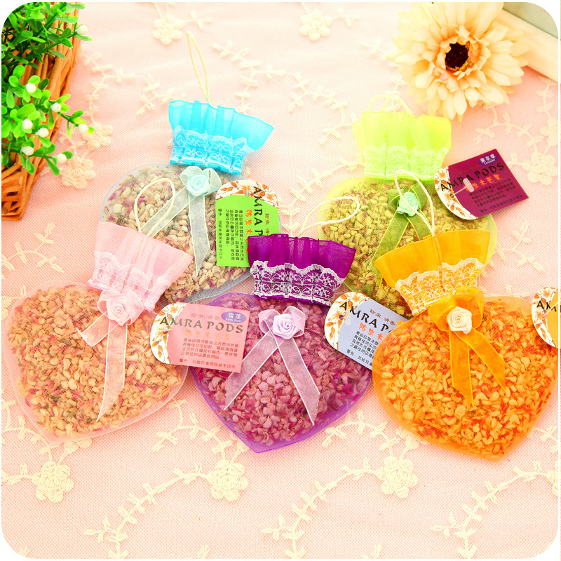 Hospitable 1pcs Pulling Type Natural Dried Flowers Incense Sachets Car Anti-odour Aromatherapy Bag Aromatic Wardrobe Sachet Incense & Incense Burners