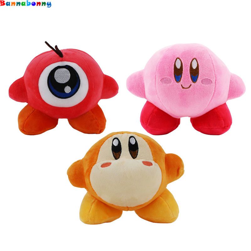 14CM Kirby Plush Toys Waddle Dee Waddle Doo Standing Pose Stuffed Pendant Doll Baby Toys