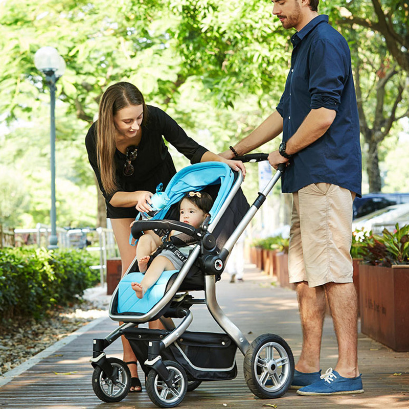 Luxury Baby Stroller High Landscope Folding Baby Carriage For Newborns Sest & Cot 2 in 1 Prams For Infant Travel System baby stroller 2 in 1 high landscape baby carriage portable folding prams for newborns baby pushchair trolley cart for infant