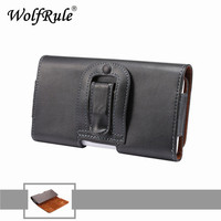 5 3 5 7 Inch For Iphone 6 Plus Horizontal Belt Clip Holster Genuine Leather Case