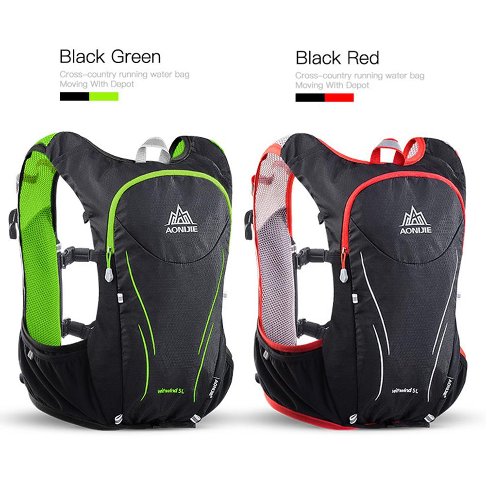 AONIJIE 5L sac à dos de course en plein air sac à dos d'hydratation sac de Sport sac d'eau Trail Running gilet pour escalade Camping randonnée