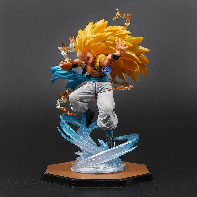 16 cm Caixa De Anime Figura Super Saiyan Gotenks 3 DBZ Dragon Ball Z PVC Action Figure Collectible Modelo Toy brinqudoes