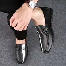 Luxury Full Genuine Leather Men Shoes Brand High Top Quality Flats Men Loafers Soft Light Weight Handmade Men Lazy Casual Shoes desai brand luxury brown men genuine leather casual shoes quality soft loafers comfortable shoes for men size 38 43
