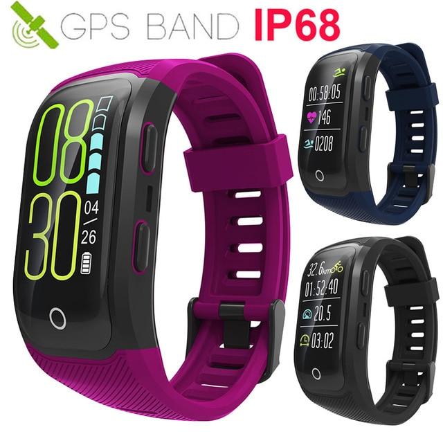 b703abb6738 Atualização Cor IP68 Nadar Relógio Inteligente GPS Corrida Ciclo RH  Cardiaco de Saúde de Ligação Fit Para IOS Xiaomi Smartwatch Montre VS  Charge3