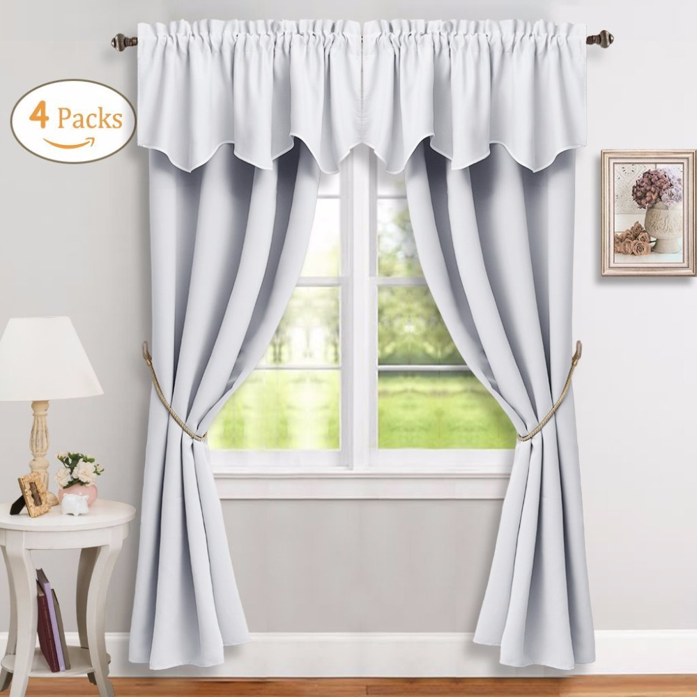 Privacy Curtain For Bedroom Us 34 2 10 Off 4 Pcs Set Window Curtain Panels Rod Pocket Draperies Room Darkening Energy Saving Privacy Protect For Bedroom In Curtains From Home