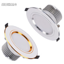 Ultra Bright LED Downlight Dimmable 7w 10w 12w  Round Ceiling Recessed Spot Light AC85~240v Down Cold Warm White