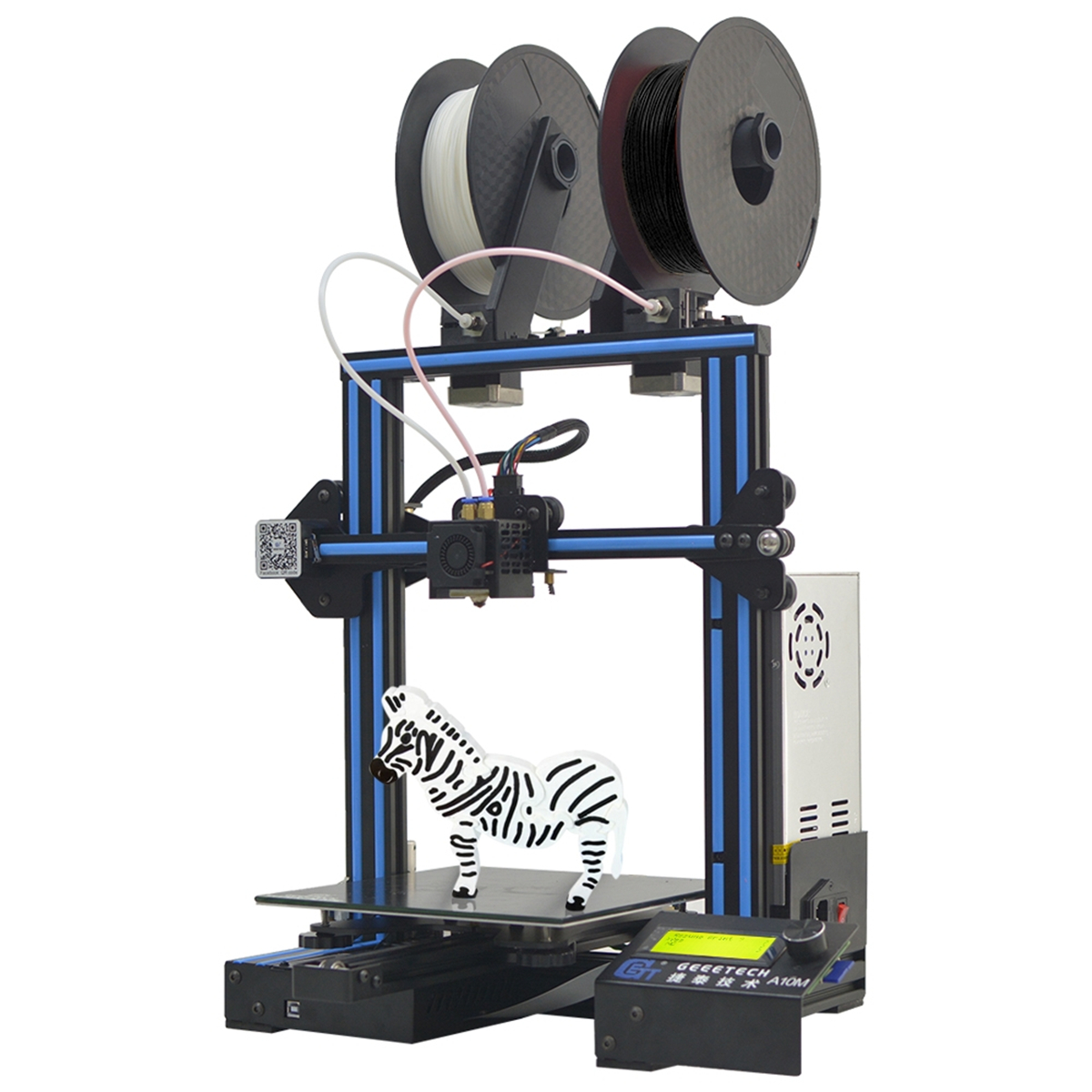 NEW A10M Mix color I3 3D Printer Printing Size With Dual Extruder Filament Detector Power Resume