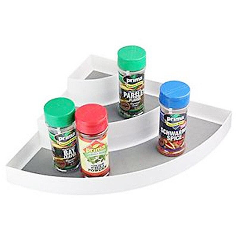 Corner Spice Rack: Creative Three Layer Corner Spice Rack PP Seasoning Rack