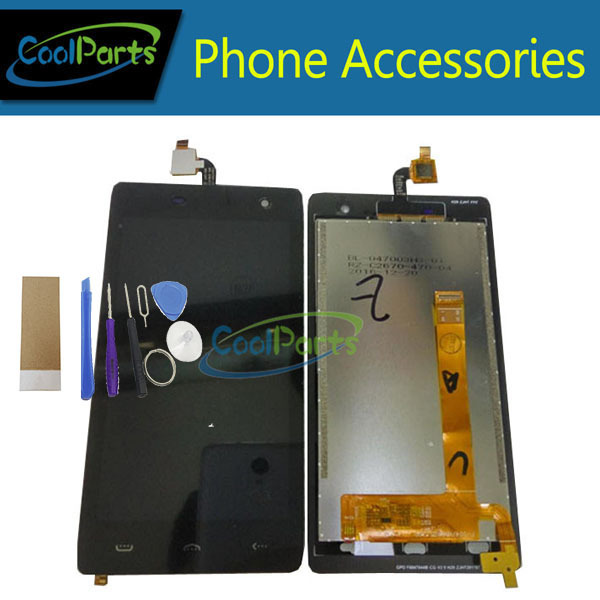 1PC/Lot High Quality For Homtom HT20 LCD Display Screen +Touch Screen Digitizer Assembly Replacement Part +Tool&Tape Black Color