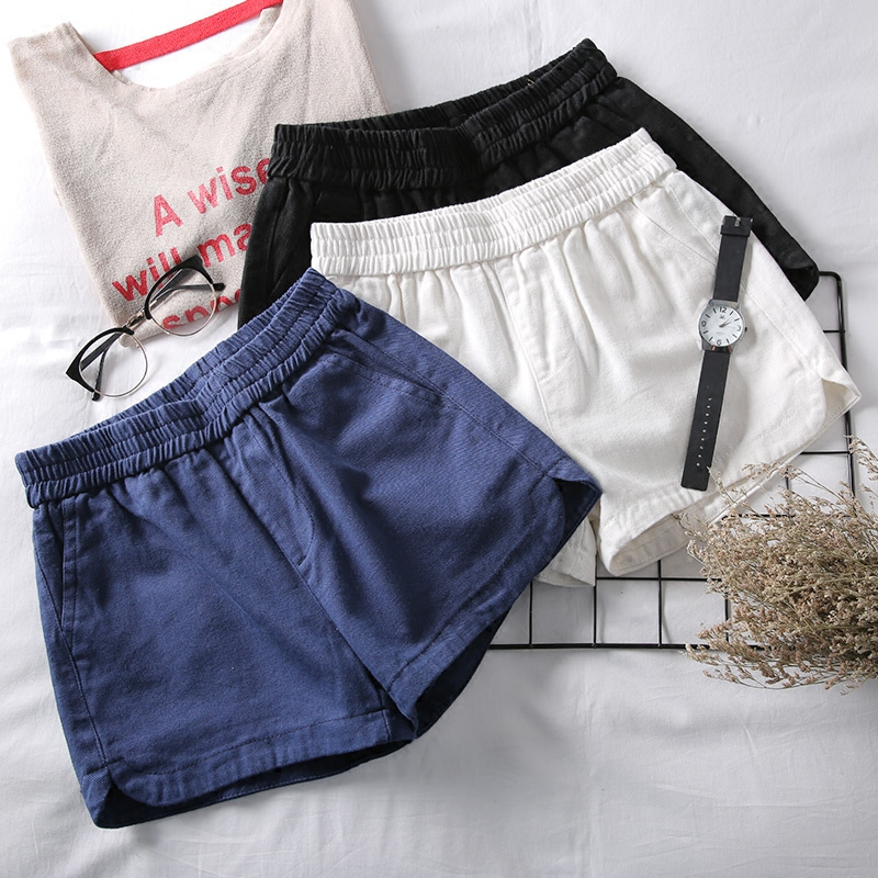 Summer Elastic High Waist Denim   Shorts   Women Plus Size Beach Jeans   Shorts   Trousers Women White   Short   Femme Sexy Hotpants C4075
