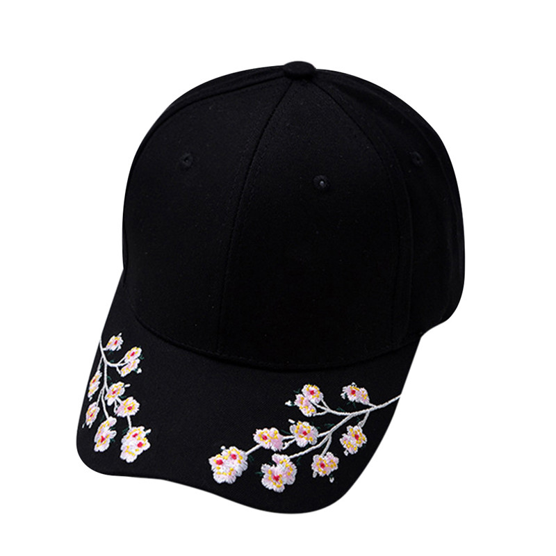 Cotton Baseball Hats for Women Plum Blossom Embroidery Flower Hip hop Casual Snapback Caps Gifts lavera hop blossom shampoo