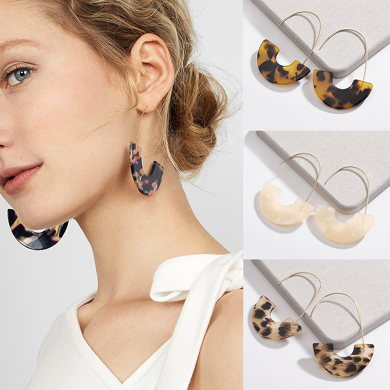 2018 New Arrival Special Design Multi-color 7 Colors  Acrylic Resin Graceful Allergy Free 1Pair Drop Earrings Jewelry Gifts