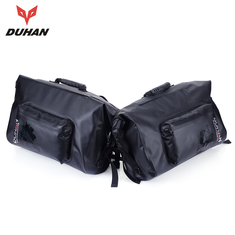 купить DUHAN Motorcycle Bag Waterproof Motorcycle Luggage Bags Travel Touring Tool Tail Saddle Bags Moto Multifunction Side Bag, 1 Pair недорого