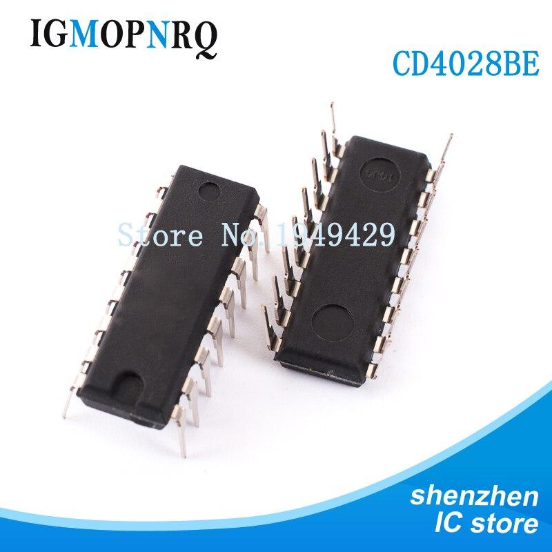 10 шт./лот CD4028BE DIP16 CD4028 кодировщик, декодер, мультиплексор и демультиплексор BCD-to-десятичный