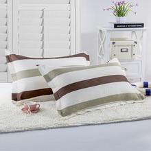 1PC Grid Stripes Pillowcase Pillow Cover 48*74CM Polyester Geometry Home Bedding Set Cap