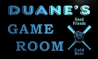 x0215-tm Duanes Baseball Game Room Custom Personalized Name Neon Sign Wholesale Dropshipping On/Off Switch 7 Colors DHL
