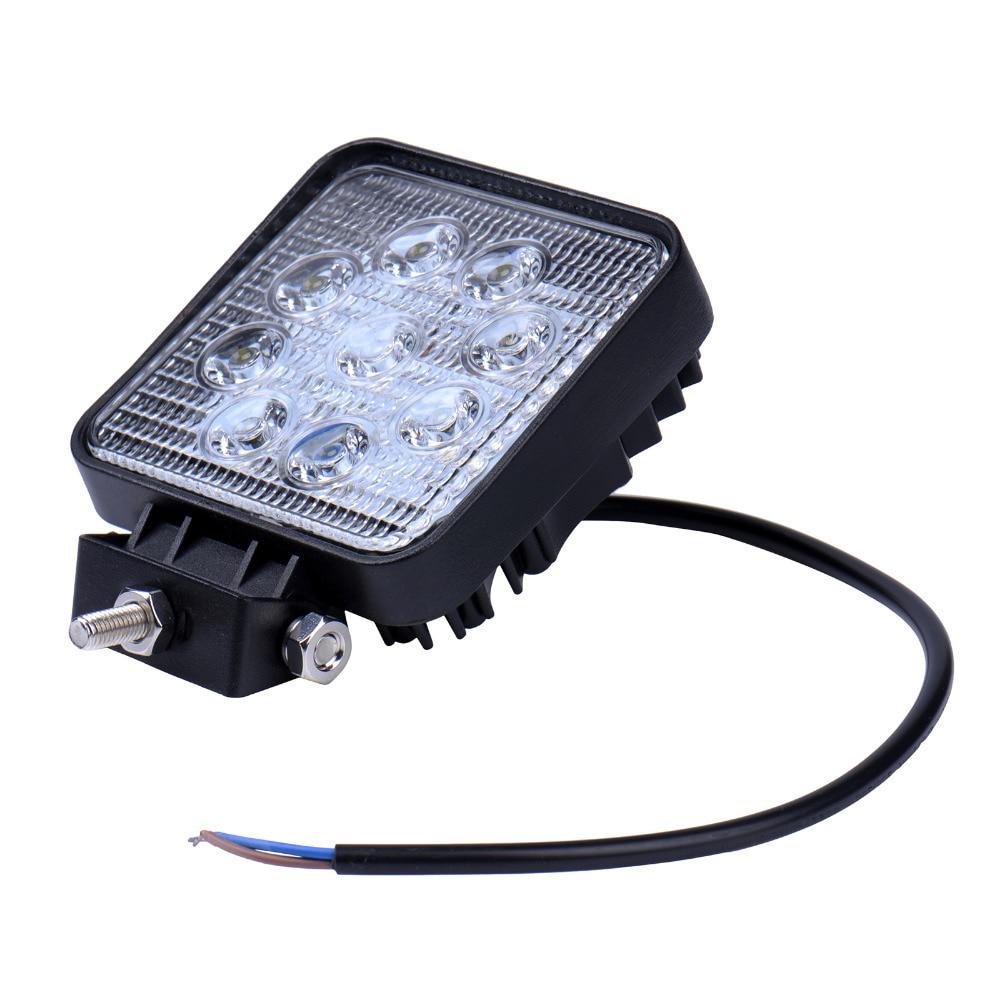 GERUITE 27W LED automobilio prožektorius sunkvežimiams visureigiams Plaukiojimas medžiokle Žvejyba IP67 Vandeniui atsparus darbas Lengvieji automobiliai LED taškeliai