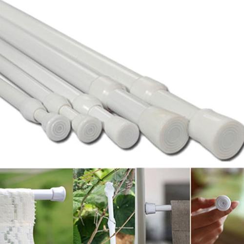 Carbon Steel Adjustable Rod Tension Home Bathroom Curtain Extensible Rod Hanger