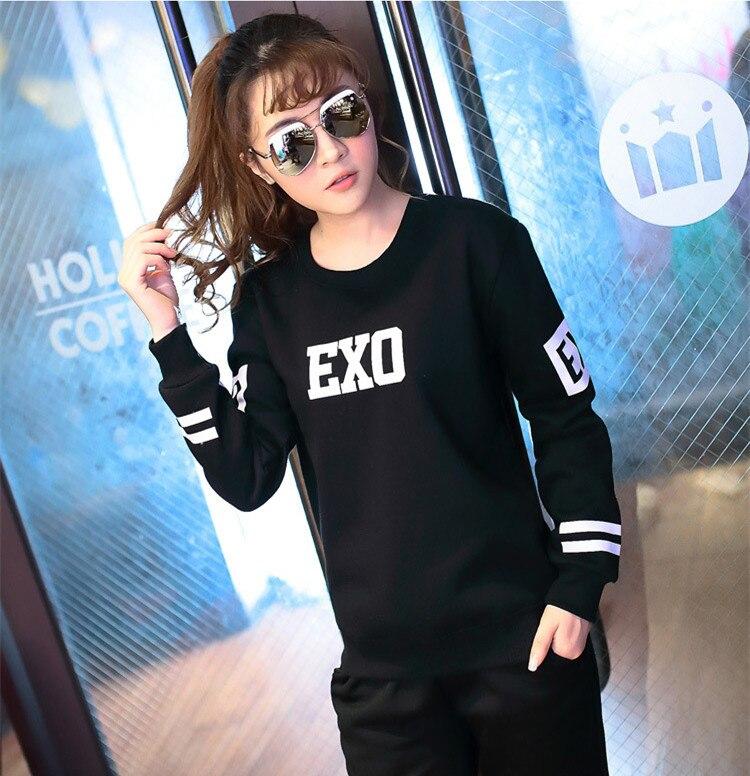 2017 Kpop EXO Planet 2 new collective sbs Personal hooded long-sleeved black k-pop EXO hooded men women shirt tops Outerwears