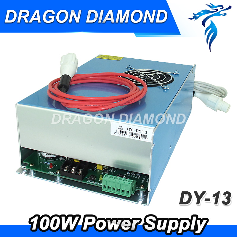 DY13 reci co2 power supply 100w for reci co2 laser tube w4 100w for co2 laser cutting machine 100w laser power supply for co2 laser cutting machine