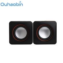 Ouhaobin New Mini Portable USB Multimedia Computer Laptop Audio Sounder Speaker